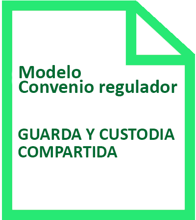 modelo de convenio regulador con guarda y custodia compartida icono
